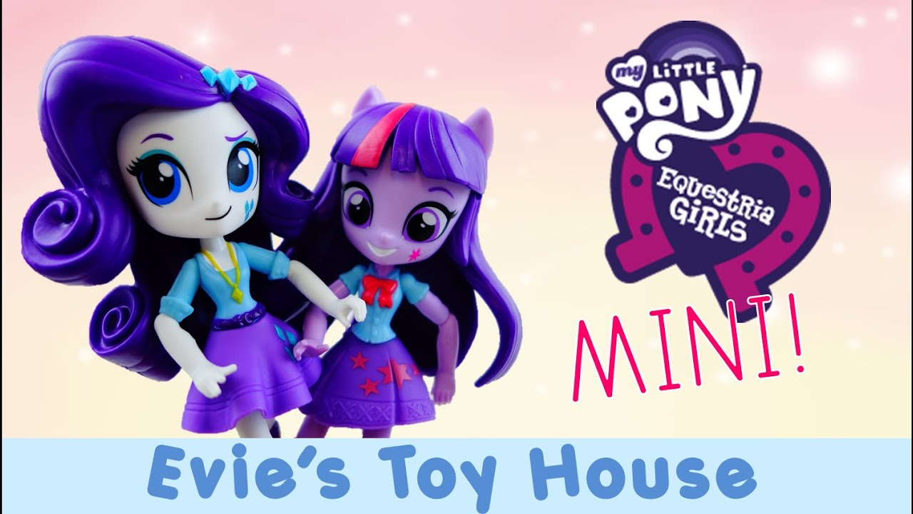 MLP Equestria Girl Minis Unboxing - Twilight Sparkle and Rarity Doll Review | Evies Toy House