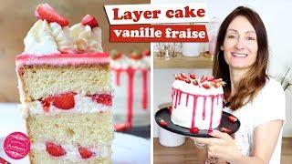 🍓 LAYER CAKE VANILLE FRAISE ~ Recette Légère Et Gourmande 🍓