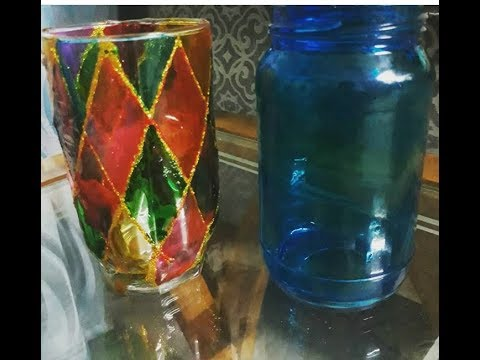 Stain  glass bottles