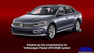 Volkswagen Passat 2015 MQB system - Keyless Go key programming for