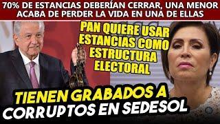 Gobierno de Obrador tiene grabados desvíos en estancias,PAN quiere usarlas como estructura electoral