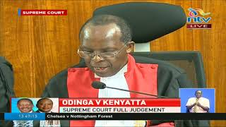 Raila failed to prove his case, says judge Ojwang - VIDEO