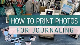HOW TO PRINT PHOTOS FOR JOURNALING  Printing Tiny Photos From My Iphone  Canon Selphy Tips