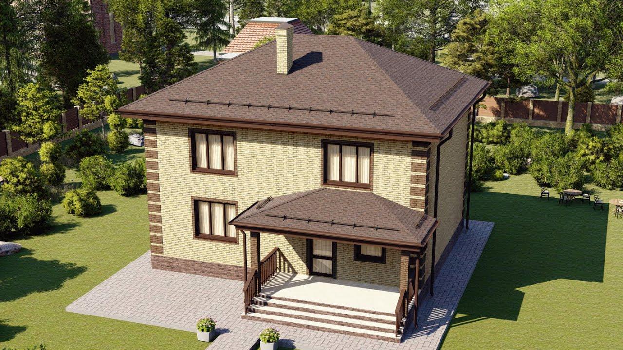Проект шестикомнатного дома из кирпича