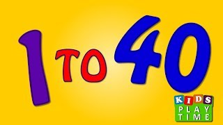 1 to 40 | Learn Number song Video For Kids and children