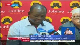 Jubilee has asked Raila to come out and defend claims that he received bribes from dominion farms