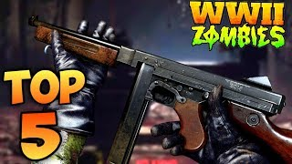 TOP 5 PACK A PUNCHED GUNS IN WW2 ZOMBIES!   Call Of Duty Zombies Top 5 List   WW2 Zombies PAP