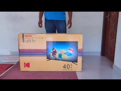 Kodak 102 cm (40 Inches) Full HD LED TV 40FHDX900S (Black) Unboxing
