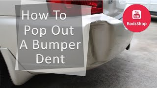 How to pop out a dent in a rubber bumper