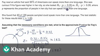Calculating a P-value given a z statistic   AP Statistics   Khan Academy