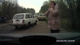 Смотреть онлайн Водитель отечественного автомобиля спровоцировал ДТП