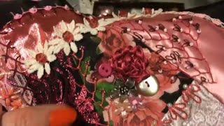How To Make A Crazy Quilt Part 10 ~ Embellishing A Block ~ DancesWithPitBulls ~