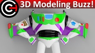 3D Printed Buzz Lightyear Part 1 - 3D Modeling