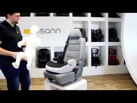 Osann Kinderautositz Sitzerhöhung Junior Isofix, ECE 2/3, 15 bis 36kg, HYBRID - Mit und ohne Isofix