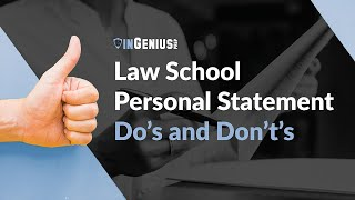 Law School Personal Statement: Do's and Don't's