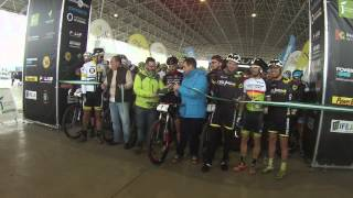 preview picture of video 'Salida/Start Andalucia Bike Race presented by Shimano 2015- Jaén'