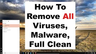 How to remove computer virus, malware, spyware, full computer clean and maintenance 2020
