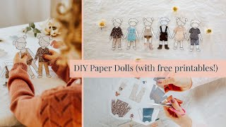 Make You Own Paper Dolls (with Free Printables)!