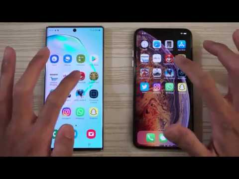 Samsung Note 10 Plus vs iPhone XS Max (Gaming or Booting) SPEED TEST!