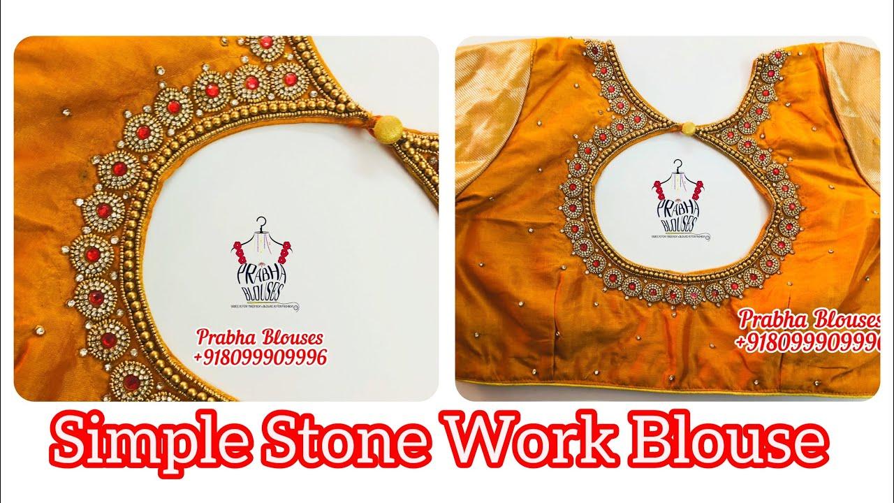 "<p style=""color: red"">Video : </p>Simple Maggam Work Blouse | Prabha Blouses | Maggam Work | Aari WorkBeautiful Bridal Blouses From Prabha Blouses We Are Specialized In Bridal Blouses Designer Blouses  Work Blouses  Maggam work Blouses at very ... 2020-11-22"