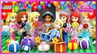 ♥ LEGO Disney Princess BIRTHDAY CELEBRATION Stop Motion Animation Cartoons For Kids