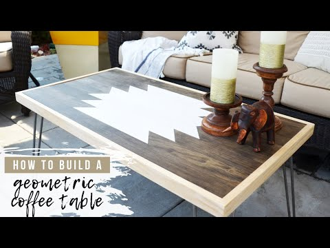DIY Wood Coffee Table | Hairpin Leg Table || How To Build A Table