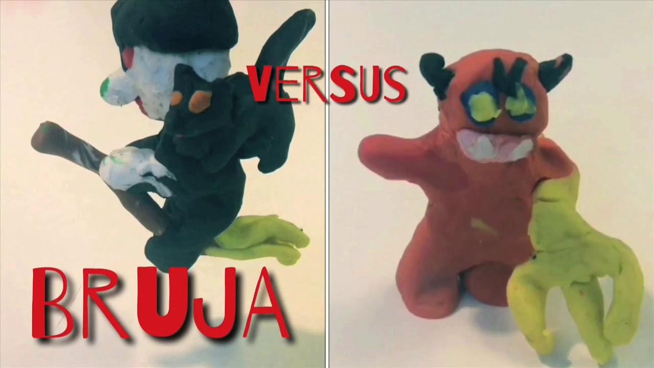 Plastilina - Pelea de personajes Halloween - animación stop motion - Las plastilinas de Camila