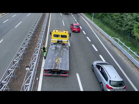 Incidente in autostrada A8 a Gazzada