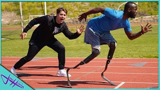RACING A MAN WITH NO LEGS! *Future Olympian*