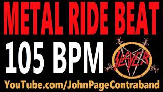 Metal Ride Beat 105 bpm Slayer Style Drums Only Track Loop