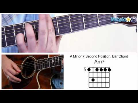 How to Play an A Minor 7 (Am7) Bar Chord on Guitar (5th Fret