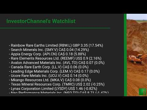 InvestorChannel's Rare Earths Watchlist Update for Wednesd ... Thumbnail