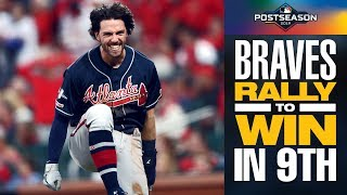 Braves' Dansby Swanson and Adam Duvall lead CLUTCH rally in 9th to lead Braves to win!