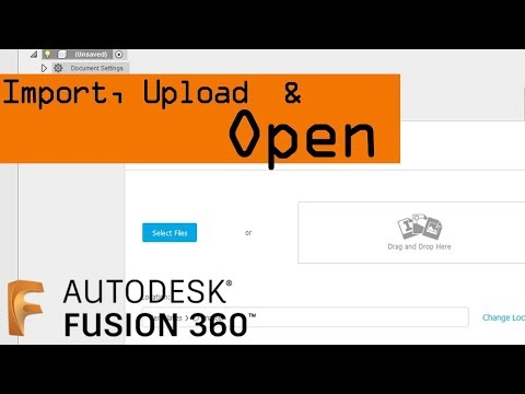 How to Import, Upload and Open a File in Fusion 360 - NYC CNC