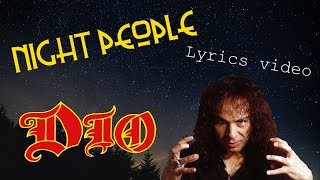 Night People, Ronnie James Dio - Music and Lyric Video by Willewiking