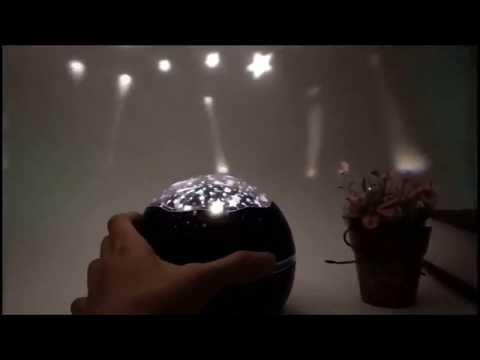 Проектор-ночник 2в1 Звёздное небо / Подводный мир Dream Lamp HD чёрный (ZN-18487) Video #1