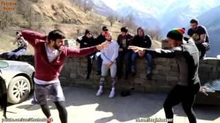 UFC fighters  Roger Huerta and Zubaira Tukhugov dance