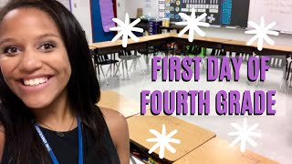 FIRST DAY OF SCHOOL! | Day In The Life Of A Fourth Grade Teacher