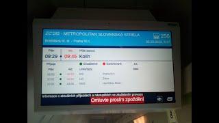 Hlášení ve vlaku EC 282