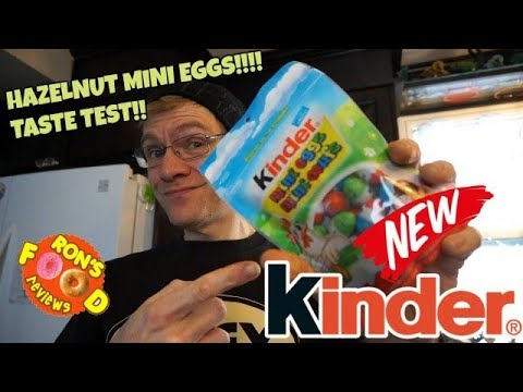Ron Reviews - Kinder Mini Eggs!! HAZELNUT FILLING!! Taste Test! Easter Chocolates!
