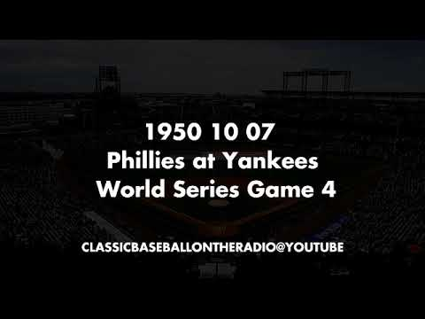 1950 10 07 Phillies at Yankees World Series Game 4 Missing Some Audio
