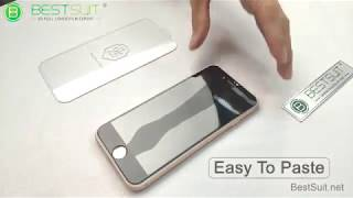 BESTSUIT--9H 2.5d Bending Edge Real Glass Touch Flexible Tempered Glass Screen Protector Test Video