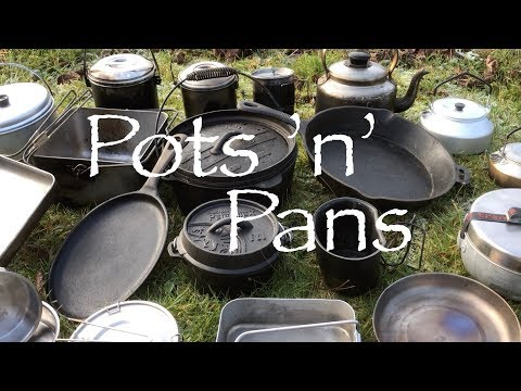 Pots, Pans and Kettles.  My Cook Kit for Bushcraft, Wild Camping and Canoe Trips.