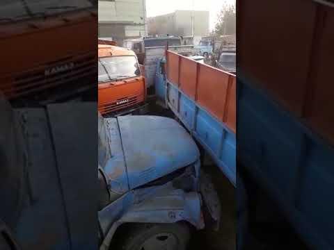 Битва грузовиков в очереди за углем в Казахстане