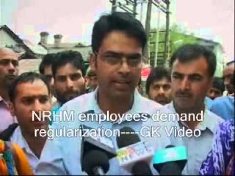 NRHM employees demand regularization