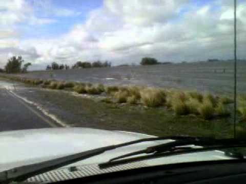 Desborde arroyo Las Flores 25/08/2012