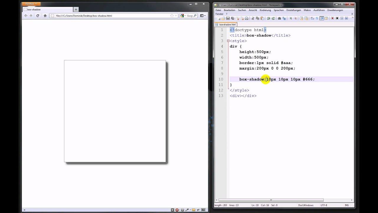 Box-Shadow mit CSS3 – Webdesign-Tutorial