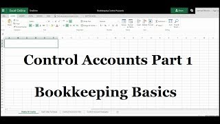 Control Accounts - Part 1 - Bookkeeping & Accounting