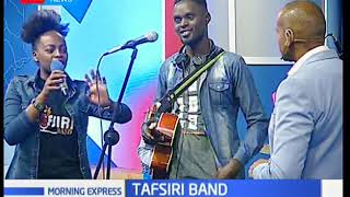 KTN's Michael Gitonga proves he can sing while interviewing Tafsiri band