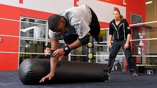 Watch the tryout drill that turns WWE prospects into putty